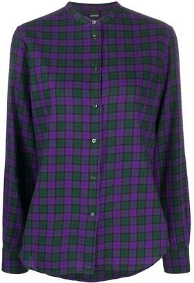 Aspesi Band-Collar Check Shirt
