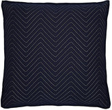 Dransfield and Ross Indoor/Outdoor Chevron-Stitched Pillow-Navy