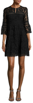 Nanette Lepore Garden Party Lace Fit And Flare Dress