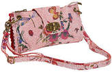 Joe Browns Womens Leather Handbag with Floral Print Pink