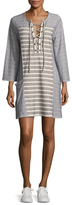 BCBGMAXAZRIA Cotton Striped Shift Dress