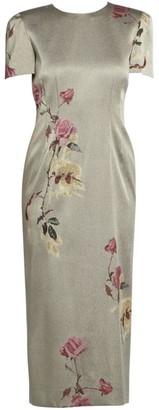 Dries Van Noten Floral-Embellished Lurex Dress