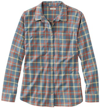 L.L. Bean Women's L.L.Bean Heritage Washed Twill Shirt, Long-Sleeve Plaid