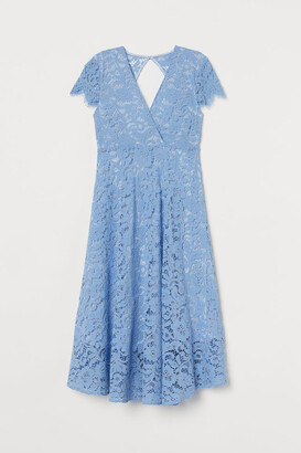 H&M MAMA Lace Dress - Blue