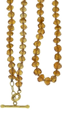 Cathy Waterman Citrine Beaded 22K Yellow Gold Necklace