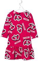 Moschino Kids heart logo printed dress