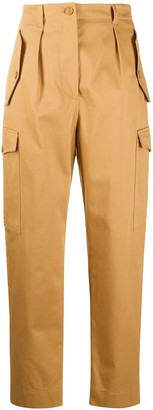 Alberta Ferretti High-Waisted Tailored Cargo Trousers