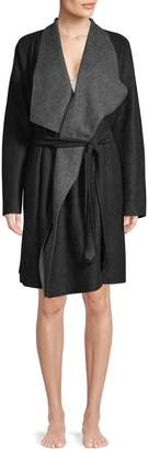 Donna Karan Oversized Collar Robe