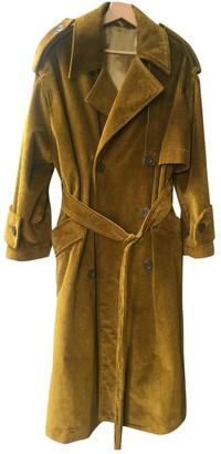 Acne Studios Brown Velvet Trench Coat for Women