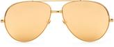 Linda Farrow Gold-plated aviator sunglasses