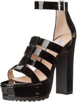 Steve Madden Womens Groove Dress Sandal, Patent