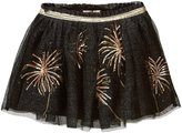 Billieblush Sequined Tulle Skirt (Toddler/Kid) - Black/Gold - 5 Years