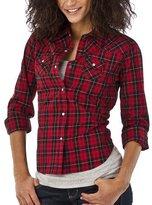 Mossimo Supply Co. Juniors Plaid Boyfriend Shirt - Red/Black