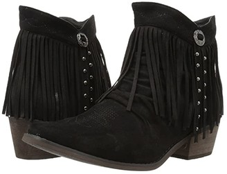 Roper Fringy (Faux Black Leather) Women's Boots