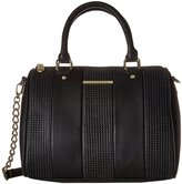 Steve Madden Women's Barrel Perf Crossbody Satchel Bag - Black