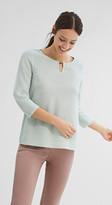 Esprit Textured jumper w decorative element