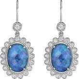 Penny Preville 18k White Gold Oval Opal & Diamond Drop Earrings