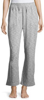 Skin Cotton-Blend Flare Lounge Pants, Light Gray