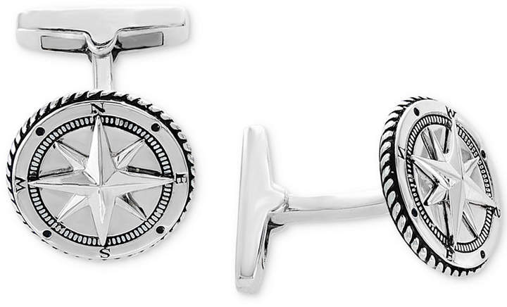 Effy Men's Rope-Style Compass Cuff Links Sterling Silver