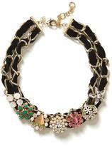 Velvet Brooch Necklace