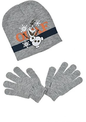 Disney Frozen Girl's Olaf Scarf Hat & Glove Set