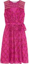 Diane von Furstenberg Bali Floral-print Silk-georgette Dress - Fuchsia