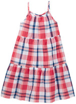 Joe Fresh Plaid Tiered Dress (Toddler & Little Girls)