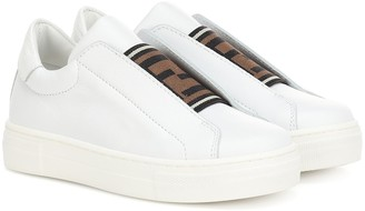 Fendi Kids Leather sneakers