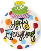Coton Colors Happy Everything Bright-Dot Big Platter with Birthday Cake Attachment