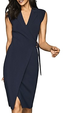 Reiss Gabrielle Belted Wrap Dress