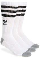 adidas Men's 3-Pack Original Roller Crew Socks