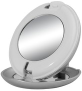 Zadro LED Lighted Compact 1X/10X Folding Mirror - Silver