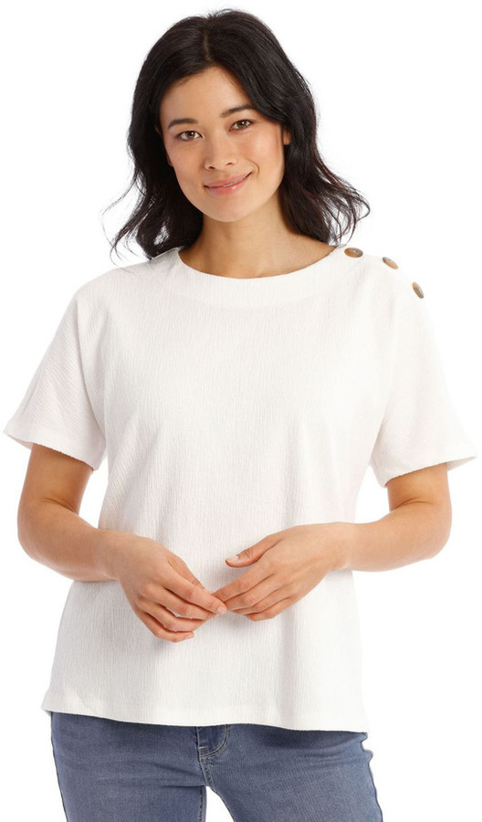 Regatta Extended Short Sleeves Tee With Button Shoulder