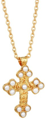Sylvia Toledano Croix 22K Yellow Goldplated & Cultured Pearl Pendant Necklace