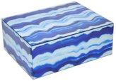 Three Hands Glass Box, Medium - Blue Marbled