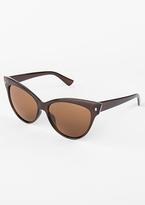 Missy Empire Saara Brown Cat Eye Sunglasses