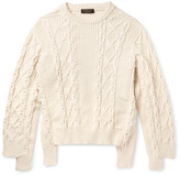 Burberry - Runway Oversized Cable-knit Cotton-blend Sweater