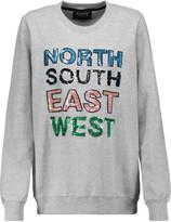 Markus Lupfer Anna sequin-embellished cotton-jersey sweatshirt
