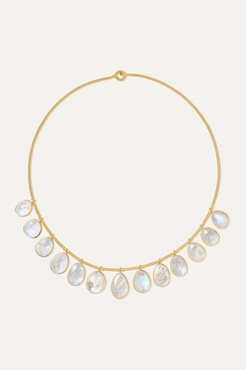 Pippa Small 18-karat Gold Moonstone Necklace - one size