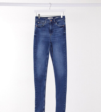 New Look Tall lift and shape skinny jean in mid blue