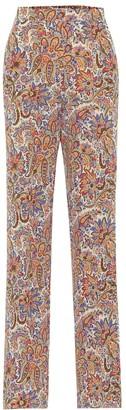 Etro High-rise wide-leg silk pants