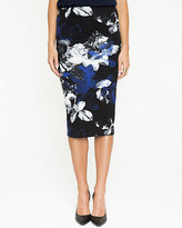 Le Château Floral Jersey Pencil Skirt
