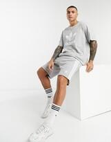 adidas 3-stripe short in grey