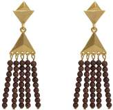 "Stephanie Kantis Dimension Earring | 24 Karat Gold Plate Wood | Width: 0.5"""