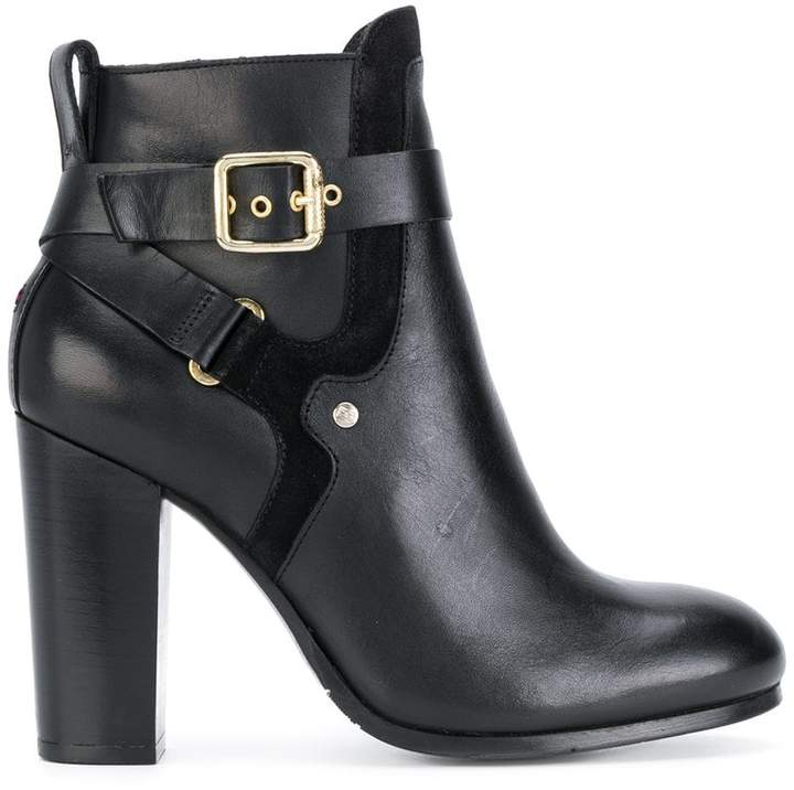 Tommy Hilfiger heeled buckle ankle boots