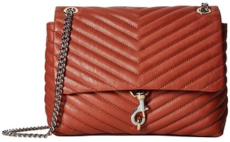 Rebecca Minkoff Edie Flap Shoulder Bag (Acorn) Handbags