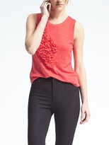 Banana Republic Embellished Linen Tank