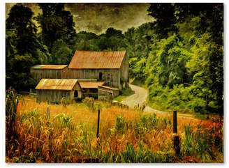 "Country Road Lois Bryan 'Country Road In Summer' Canvas Art - 19"" x 14"""