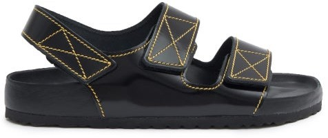 Birkenstock x Proenza Schouler Milano Leather Sandals - Black