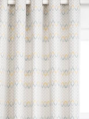 John Lewis & Partners Nova Pair Lined Eyelet Curtains